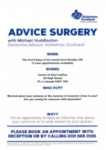 Info re new Dementia Advice Surgery
